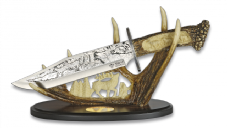 Engraved Deer Display Knife & Stand